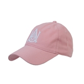 Pink Twill Unstructured Low Profile Cap-Official Logo