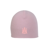 Pink Knit Beanie-Official Logo