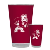 Full Color Glass 17oz-Bulldog