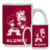 Alumni Full Color White Mug 15oz-Bulldog