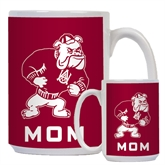 Mom Full Color White Mug 15oz-Bulldog