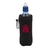 Collapsible Black Bottle Holder-Official Logo