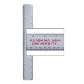 12 Inch White Plastic Ruler-Alabama A&M University