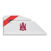 Angled Red Stripe Letter Opener-Official Logo