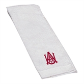 White Golf Towel-Official Logo