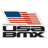 Extra Large Decal-Flag on Stacked USA BMX, 18 in. Wide