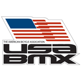 Super Large Decal-Flag on Stacked USA BMX, 24 in. Wide