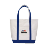 Contender White/Navy Canvas Tote-Flag on Stacked USA BMX