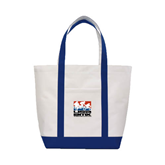 Contender White/Navy Canvas Tote-Riders on Stacked USA BMX