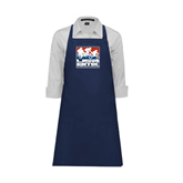 Full Length Navy Apron-Riders on Stacked USA BMX