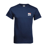 Navy T Shirt-Riders on Stacked USA BMX