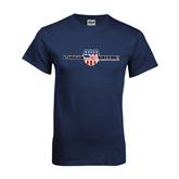 Navy T Shirt-USA BMX w/Flag Shield