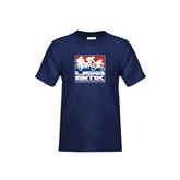 Youth Navy T Shirt-Riders on Stacked USA BMX