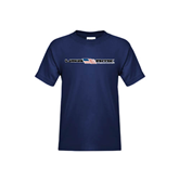 Youth Navy T Shirt-USA BMX w/Flag In Between