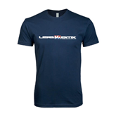Next Level SoftStyle Navy T Shirt-USA BMX w/Riders Between