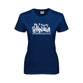 Ladies Navy T Shirt-We R Family