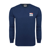 Navy Long Sleeve T Shirt-Riders on Stacked USA BMX