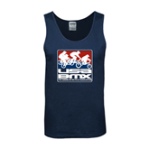Navy Tank Top-Riders on Stacked USA BMX