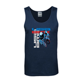 Navy Tank Top-USA BMX w/2 Riders