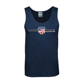 Navy Tank Top-USA BMX w/Flag Shield