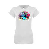 Next Level Ladies SoftStyle Junior Fitted White Tee-United We Race