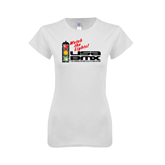 Next Level Ladies SoftStyle Junior Fitted White Tee-Watch the Lights!