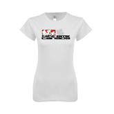 Next Level Ladies SoftStyle Junior Fitted White Tee-Stacked BMX Canada w/Riders