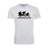 Next Level SoftStyle White T Shirt-Flag Logo with Riders