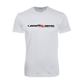 Next Level SoftStyle White T Shirt-USA BMX w/Flag In Between