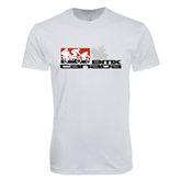 Next Level SoftStyle White T Shirt-Stacked BMX Canada w/Riders