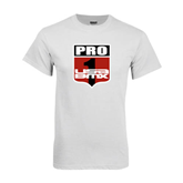 White T Shirt-PRO 1 USA BMX Shield