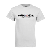 White T Shirt-USA BMX w/Flag and Swirls