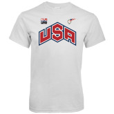White T Shirt-USA Combo Mark