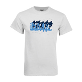 White T Shirt-White USA BMX 5 Riders