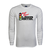 White Long Sleeve T Shirt-Watch the Lights!