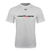 Under Armour White Tech Tee-USA BMX w/Flag In Between