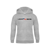 Youth Grey Fleece Hood-USA BMX w/Flag In Between