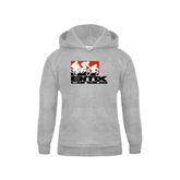 Youth Grey Fleece Hood-Riders on Stacked BMX Canada