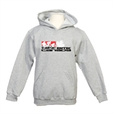 Youth Grey Fleece Hood-Stacked BMX Canada w/Riders