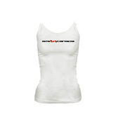 Ladies White Cami-BMX Canada w/Flag