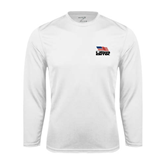 Syntrel Performance White Longsleeve Shirt-Flag on Stacked USA BMX