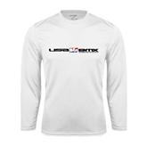 Syntrel Performance White Longsleeve Shirt-USA BMX w/Riders Between