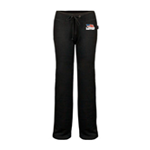 ENZA Ladies Black Fleece Pant-Flag on Stacked USA BMX