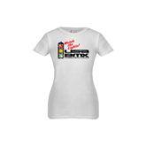Youth Girls White Fashion Fit T Shirt-Watch the Lights!