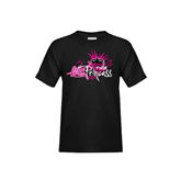 Youth Black T Shirt-Black BMX Princess Girls Rule