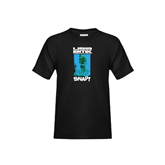 Youth Black T Shirt-USA BMX Snap!
