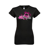 Next Level Ladies Softstyle Junior Fitted Black Tee-Black BMX Princess Girls Rule