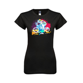 Next Level Ladies Softstyle Junior Fitted Black Tee-United We Race