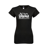 Next Level Ladies Softstyle Junior Fitted Black Tee-We R Family