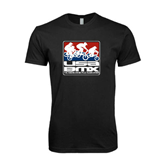 Next Level SoftStyle Black T Shirt-Riders on Stacked USA BMX